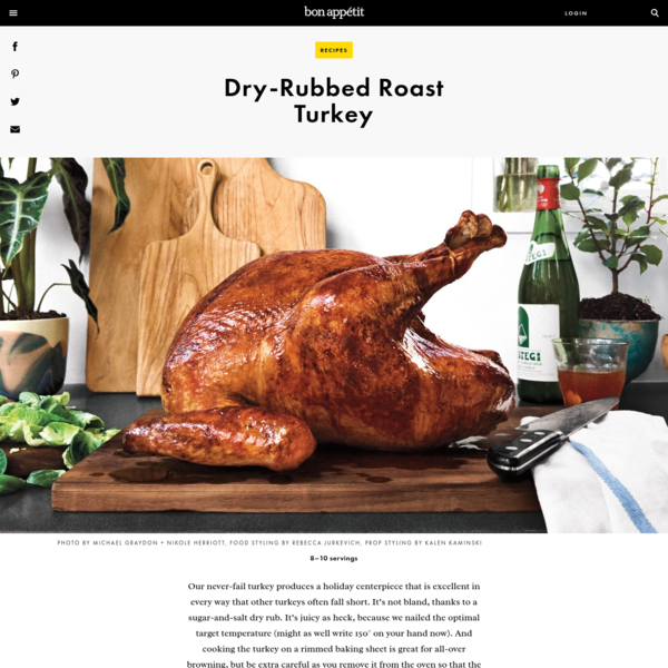 Dry-Rubbed Roast Turkey Recipe