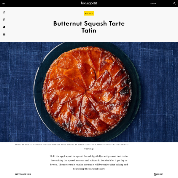 Butternut Squash Tarte Tatin Recipe