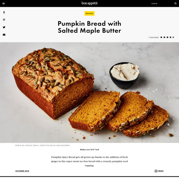 Pumpkin Bread with Salted Maple Butter Recipe
