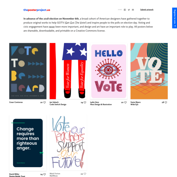 The Poster Project 2018 (Get Out the Vote on November 6th!)