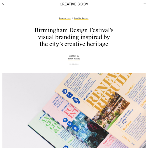 Birmingham Design Festival's visual branding inspired by the city's creative heritage