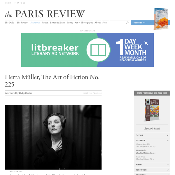 Herta Müller, The Art of Fiction No. 225