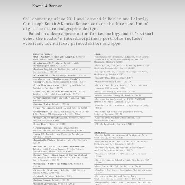 Knoth & Renner, Graphic Design