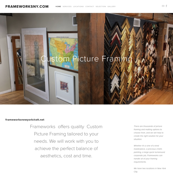 Custom Picture Frame shops in New York and Brooklyn. Located in the Noho and Dumbo neighborhoods