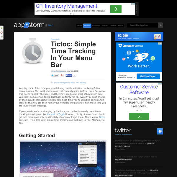 Tictoc: Simple Time Tracking In Your Menu Bar
