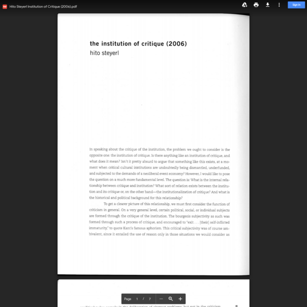 Hito Steyerl Institution of Critique (2006).pdf