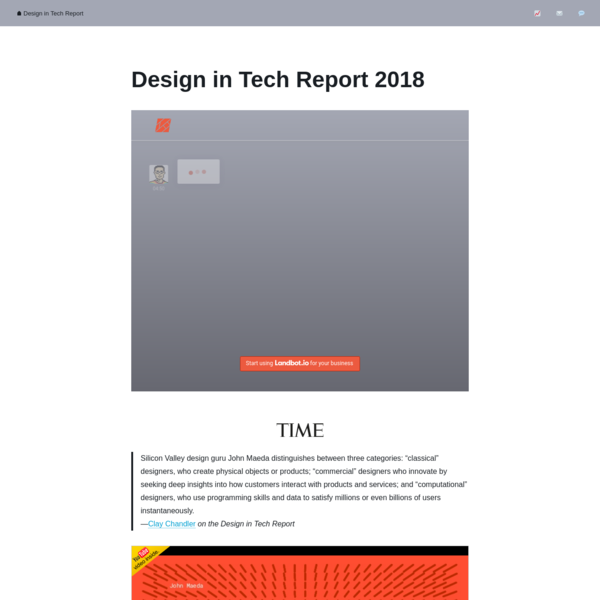 Design in Tech Report