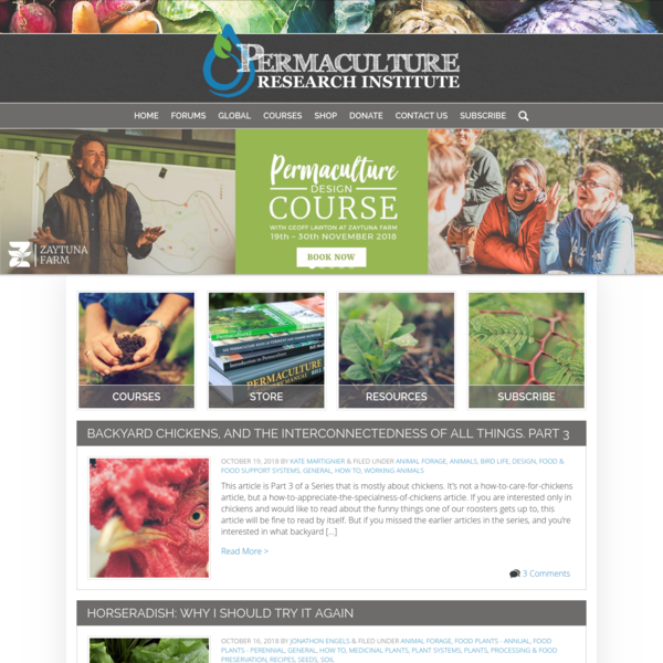 The world's most popular Permaculture portal