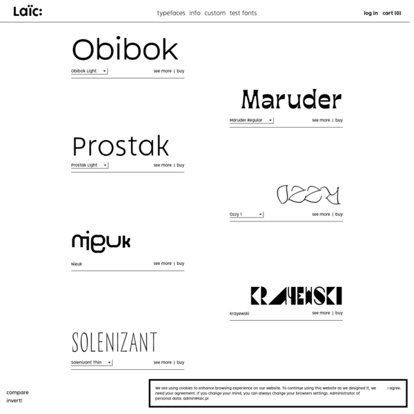 Laïc: - Warsaw-based type foundry designing and distributing fonts!