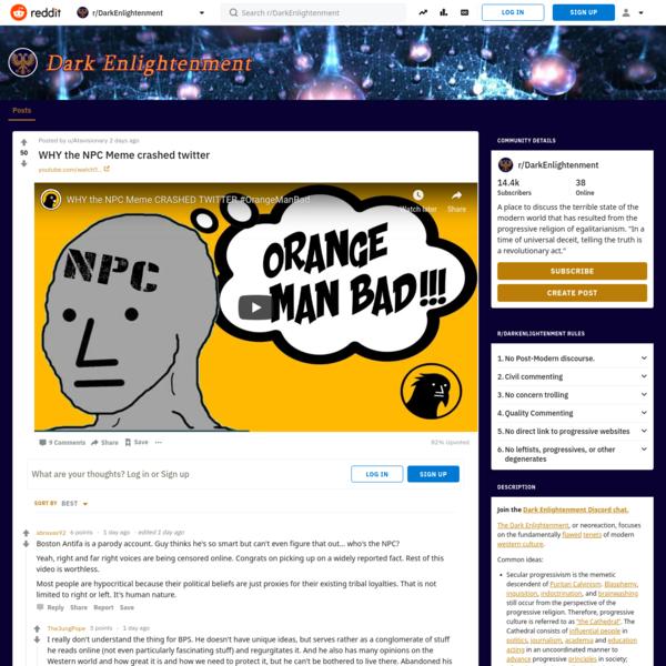 r/DarkEnlightenment - WHY the NPC Meme crashed twitter