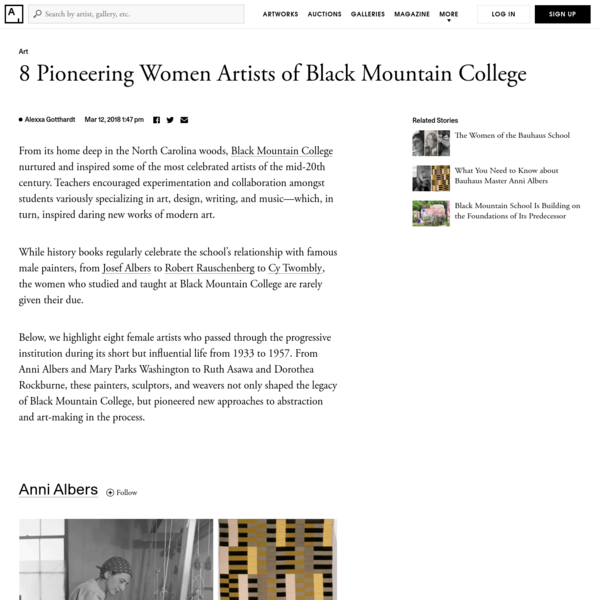"""""""Will you consider coming to Black Mountain College? It's a pioneering adventure."""" This was the invitation Anni Albers and her husband, Josef, received in 1933, as political conflict began to brew in their native Germany. The previous year, the Nazi regime forcibly closed the , a pioneering art school where the couple studied and taught."""