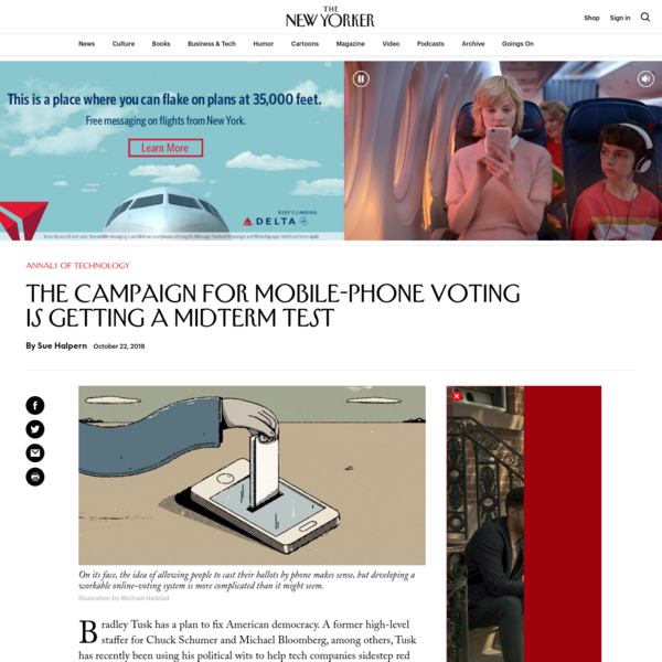 The Campaign for Mobile-Phone Voting Is Getting a Midterm Test