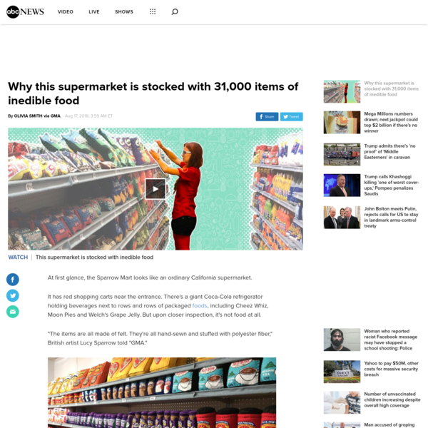 Why this supermarket is stocked with 31,000 items of inedible food