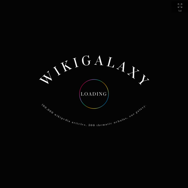 WikiGalaxy: Explore Wikipedia in 3D