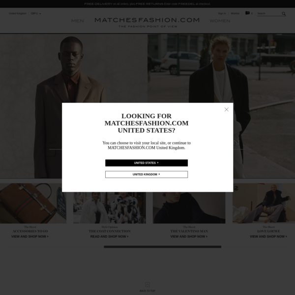 MATCHESFASHION.COM UK | Designer Clothing | Women's and Men's Luxury Designer Clothes, Shoes, Bags and Accessories | MATCHES...