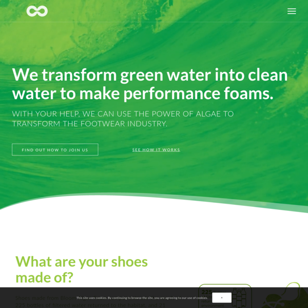 Our goal is to inspire the global footwear industry to reduce its environmental footprint, while continuing to innovate and provide performance-driven goods at competitive price points. And we want to help them make it happen. Every day we're working with nature to find creative solutions that preserve our planet's most precious resources.