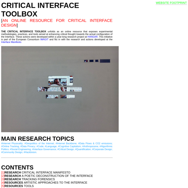 CRITICAL INTERFACE TOOLBOX