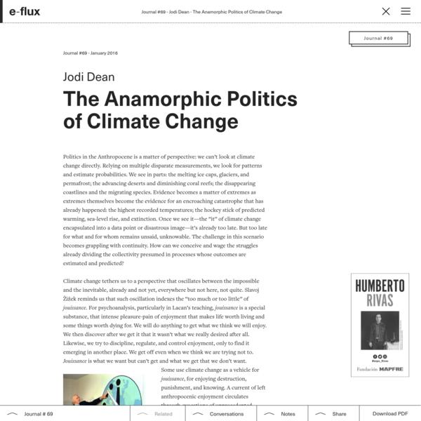 The Anamorphic Politics of Climate Change