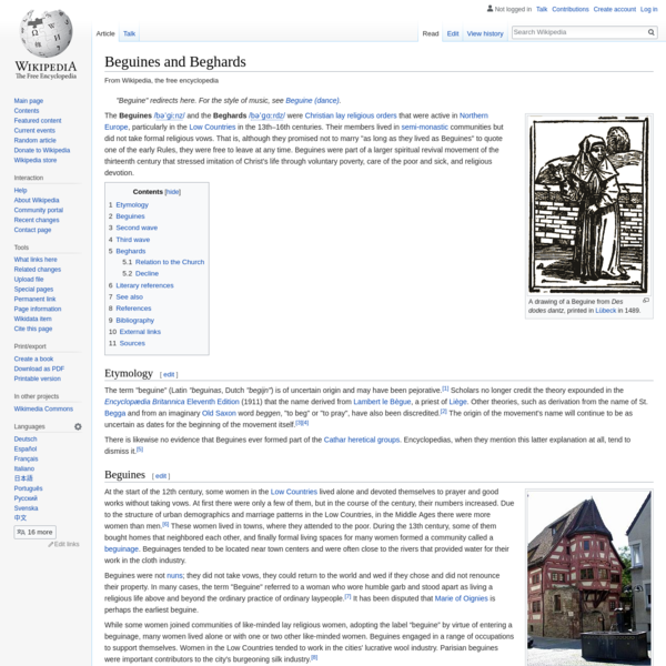 Beguines and Beghards - Wikipedia