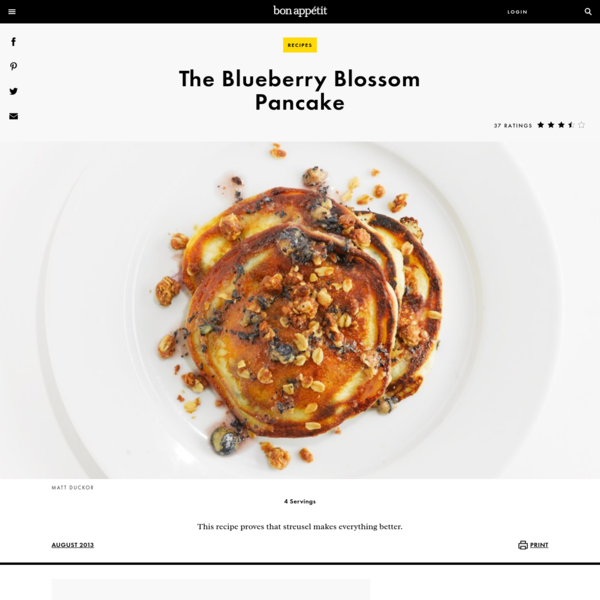 This Blueberry Blossom Pancake recipe proves that streusel makes everything better.