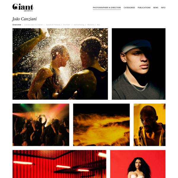 Giant Artists | Photographers Directors Joao Canziani Overview
