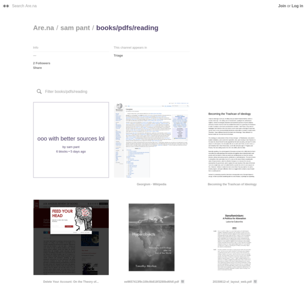 Are.na / books/pdfs/reading