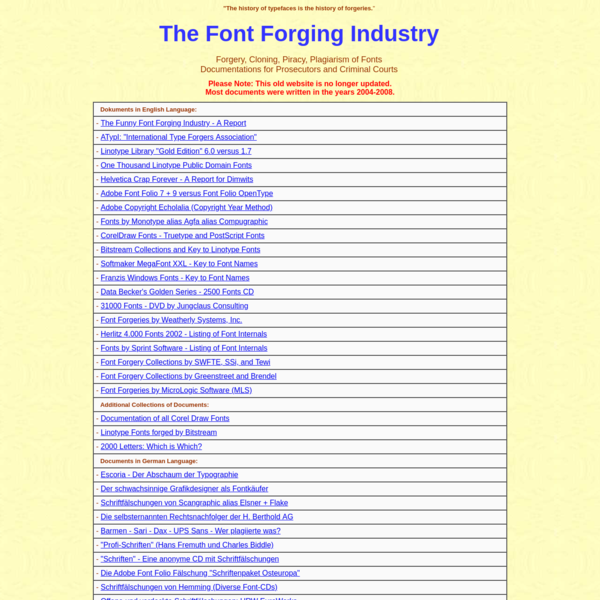 Forgers - Cloners - Pirates - Plagiarists
