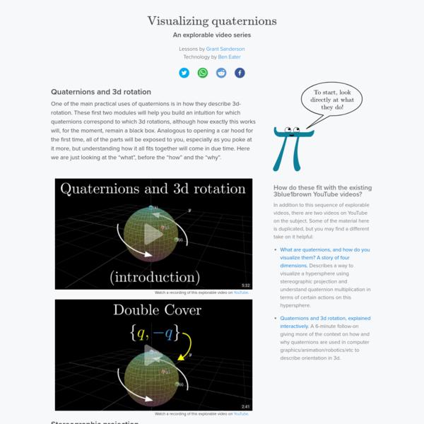 Visualizing quaternions, an explorable video series