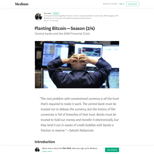Planting Bitcoin -  Season (2/4) - Dan Held - Medium