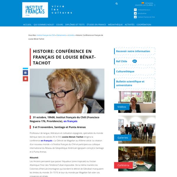 Histoire: Conférence en français de Louise Bénat-Tachot (2018-10-31)