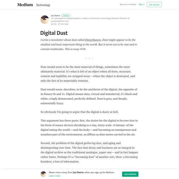 Digital Dust – Jay Owens – Medium