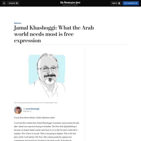 Opinion   Jamal Khashoggi: What the Arab world needs most is free expression