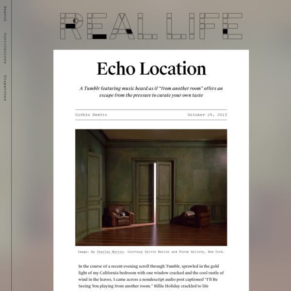 Echo Location - Real Life