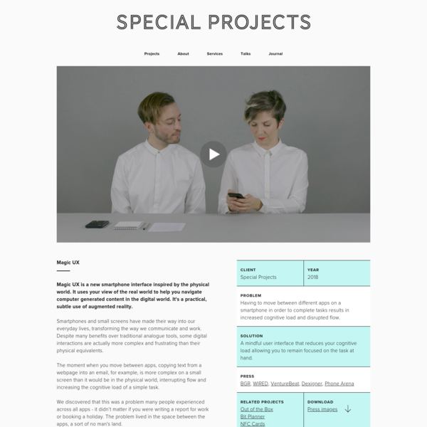Special Projects - Special Projects | Magic UX