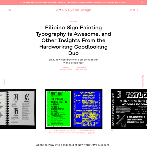 Filipino Sign Painting Typography is Awesome, and Other Insights From the Hardworking Goodlooking Duo