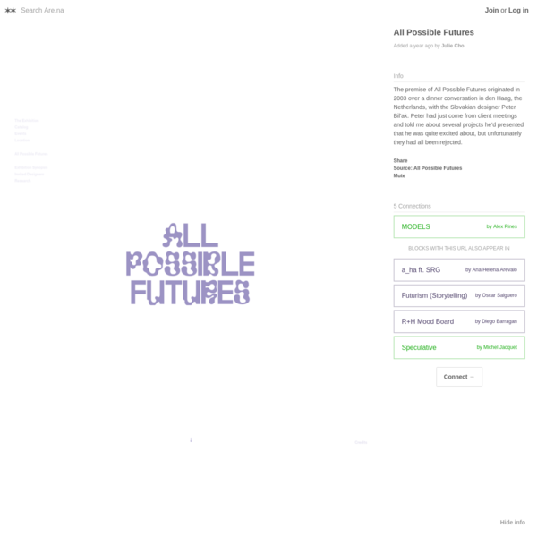 Are.na / All Possible Futures