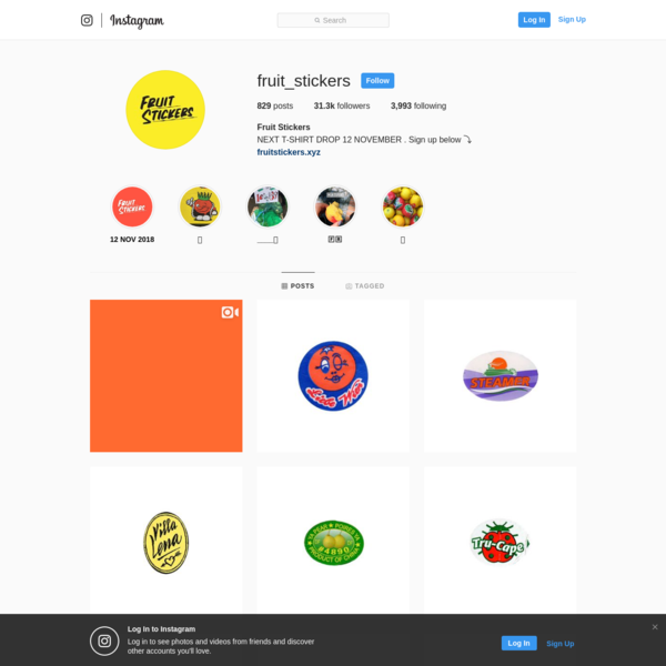 Fruit Stickers (@fruit_stickers) * Instagram photos and videos