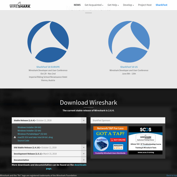 Wireshark · Go Deep.