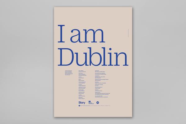 Typeface: Duplicate Ionic  Source: https://fontsinuse.com/uses/18220/i-am-dublin-film-poster