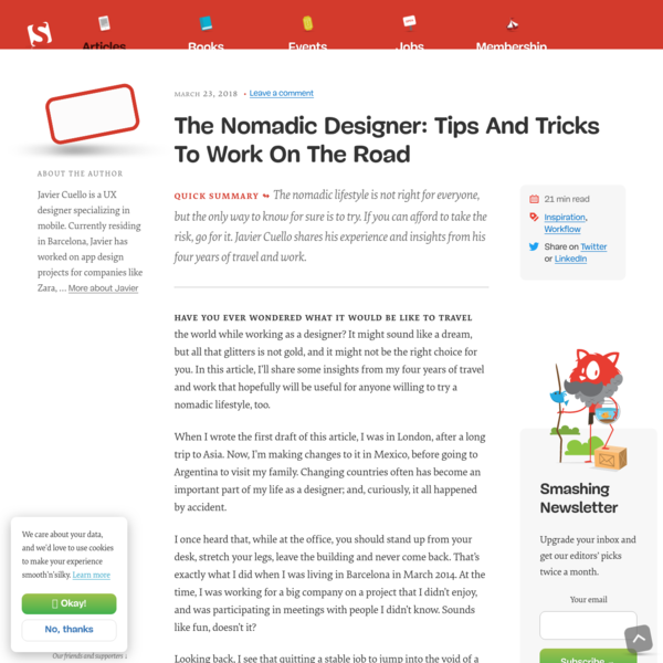 The Nomadic Designer: Tips And Tricks To Work On The Road