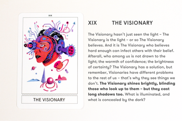 XIX: The Visionary, Instant Archetypes: A New Tarot For The New Normal, by Superflux