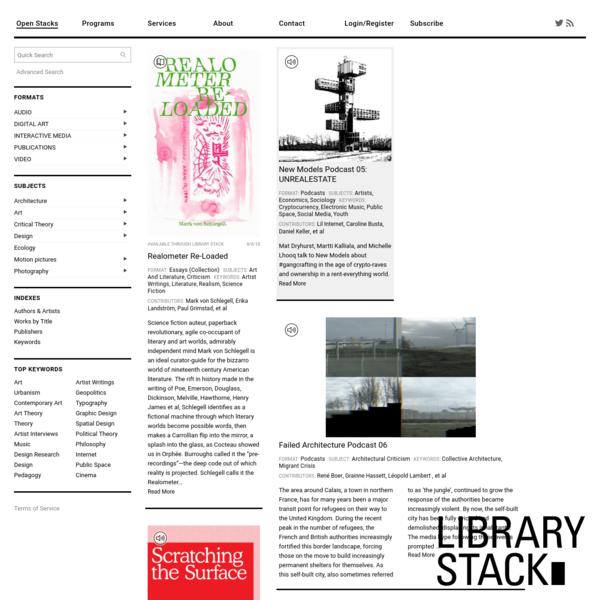 LIBRARYSTACK∎ | Art & Culture Digital Lending Library