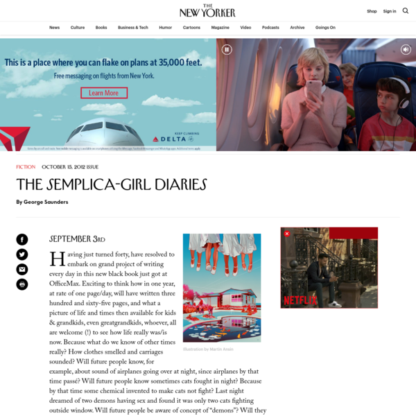 The Semplica-Girl Diaries