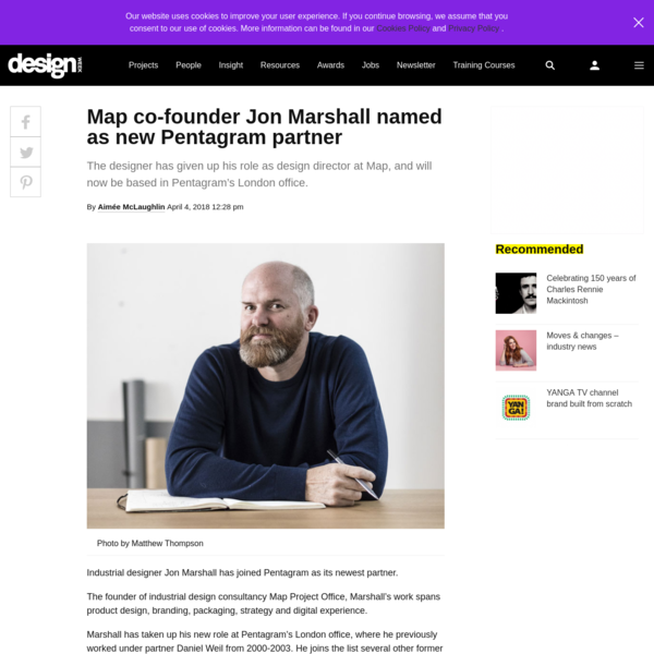 The designer has given up his role as design director at Map, and will now be based in Pentagram's London office.