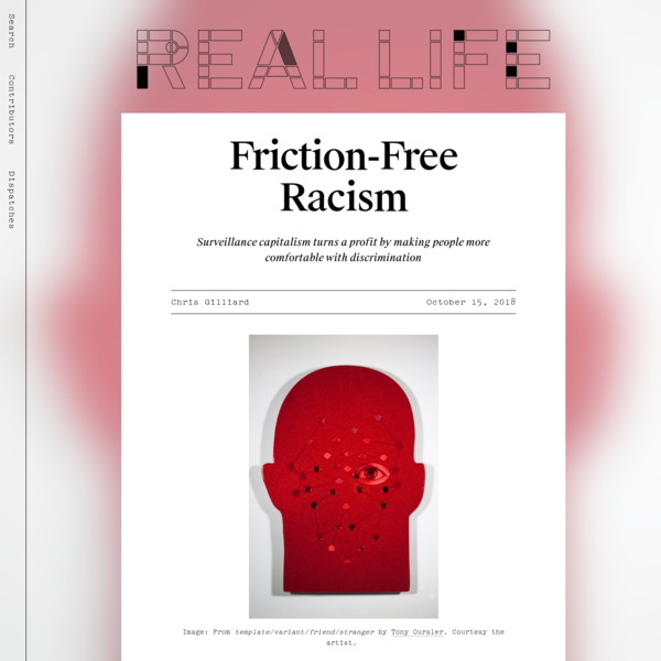 Friction-Free Racism - Real Life