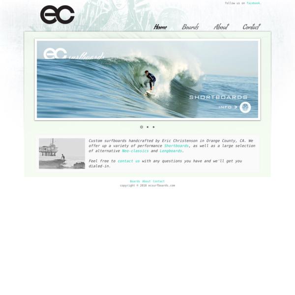 Custom surfboards handmade in Orange County, Calfornia - EC Surfboards