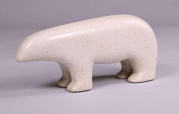Beniamino Bufano Marble Polar Bear Sculpture