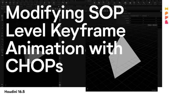 Modifying SOP Level Keyframe Animation with CHOPs in Houdini