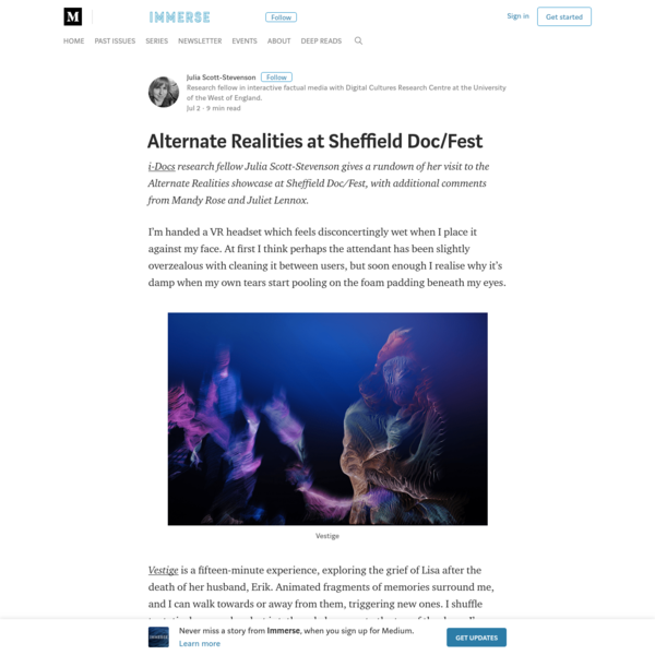 Alternate Realities at Sheffield Doc/Fest - Immerse
