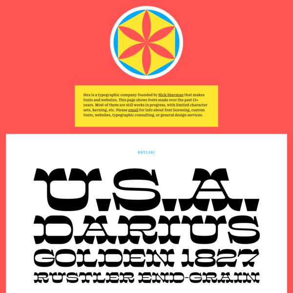 HEX - A typographic company